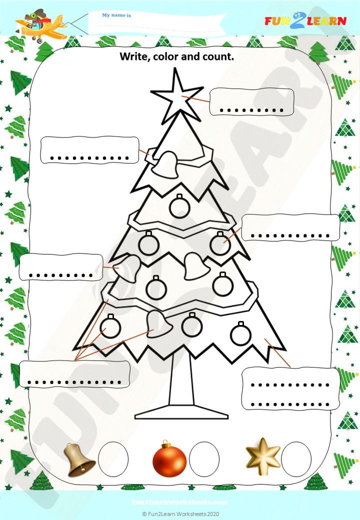 steve and maggie christmas tree worksheet