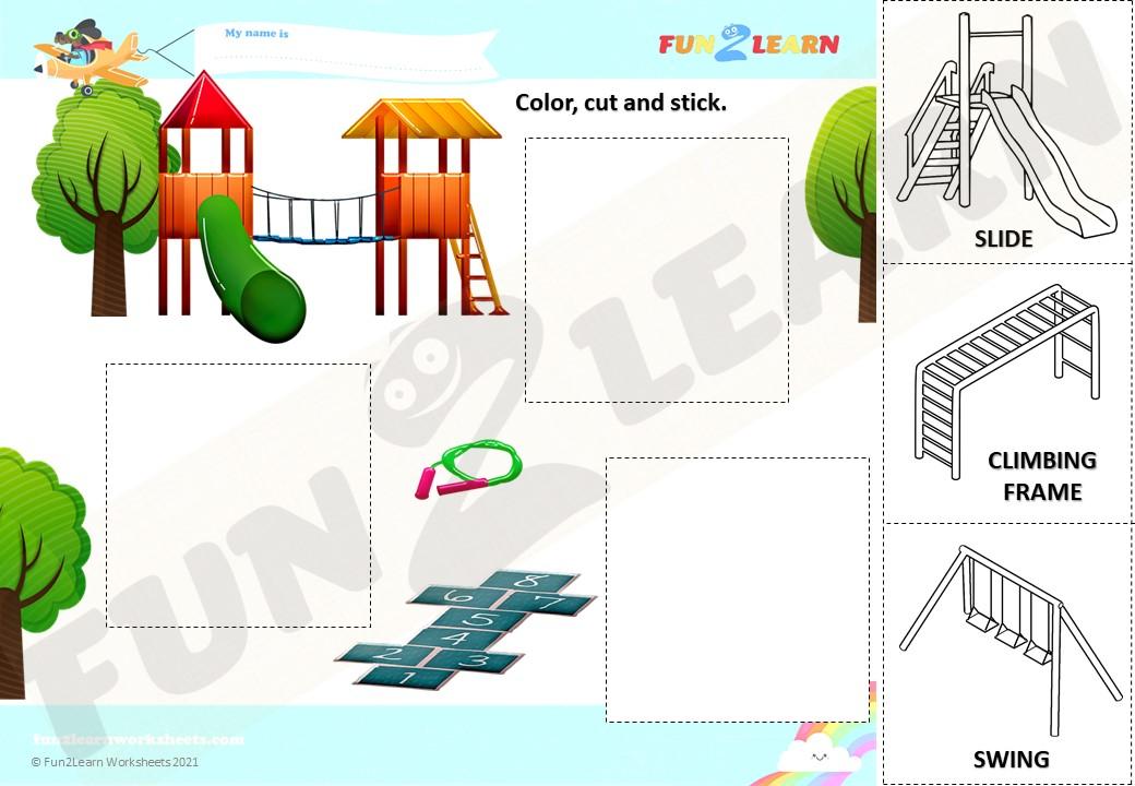 peppa playground worksheet