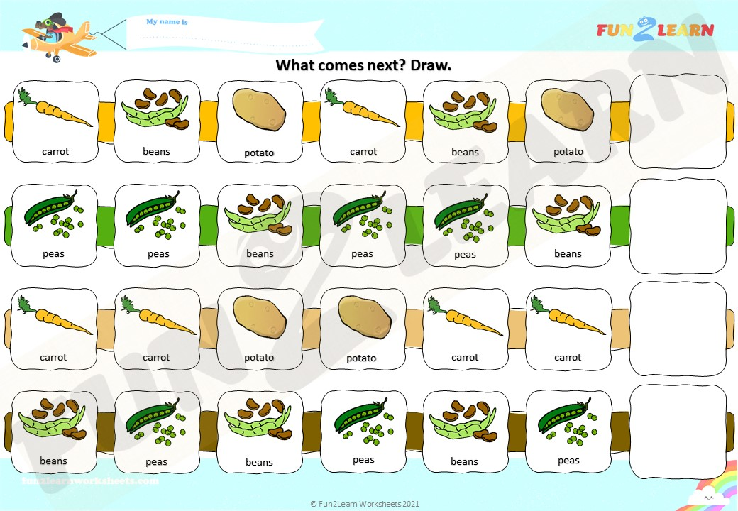 carrots are yummy esl worksheet
