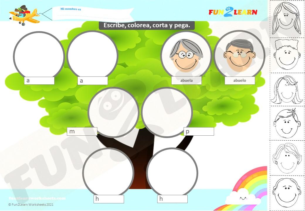 steve and maggie spanish family worksheet