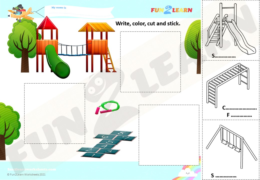 peppa pig playground worksheet