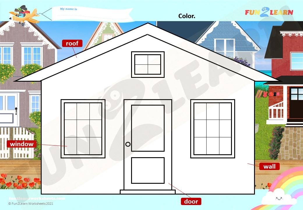 house color in worksheet