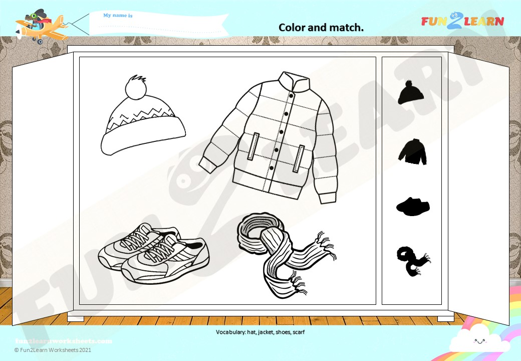 clothes esl worksheet young learners