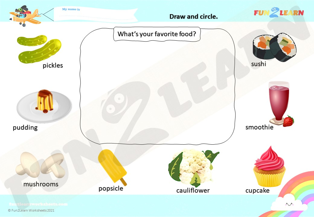 pickle pudding worksheet
