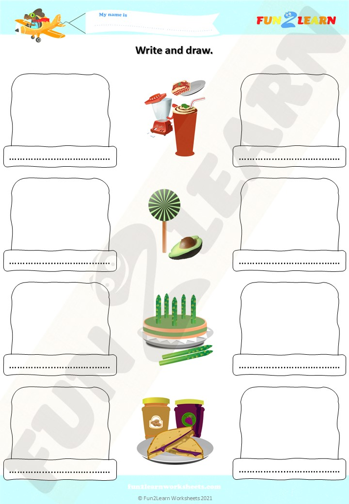 lasagna milkshakes free esl worksheet
