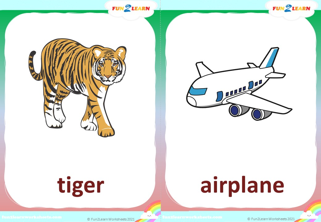 i can be a tiger flashcards