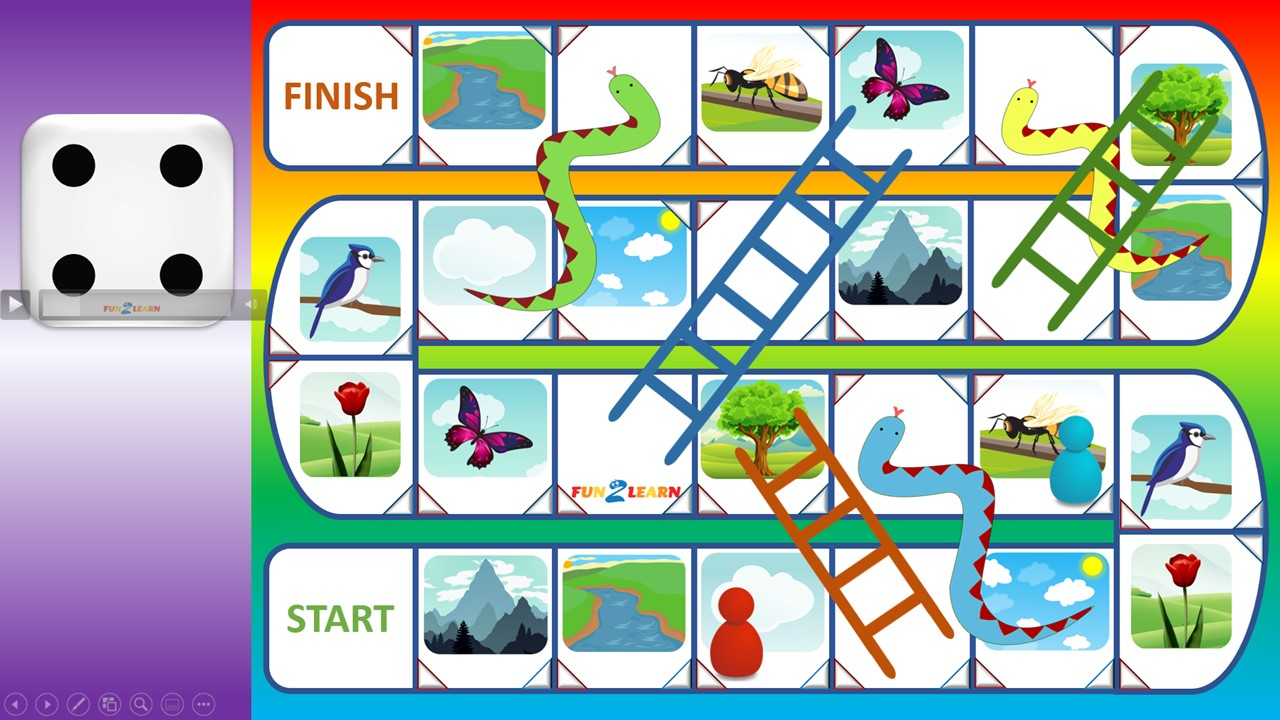 online esl game Snakes and ladders