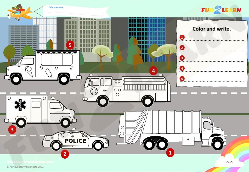 steve maggie vehicles worksheet