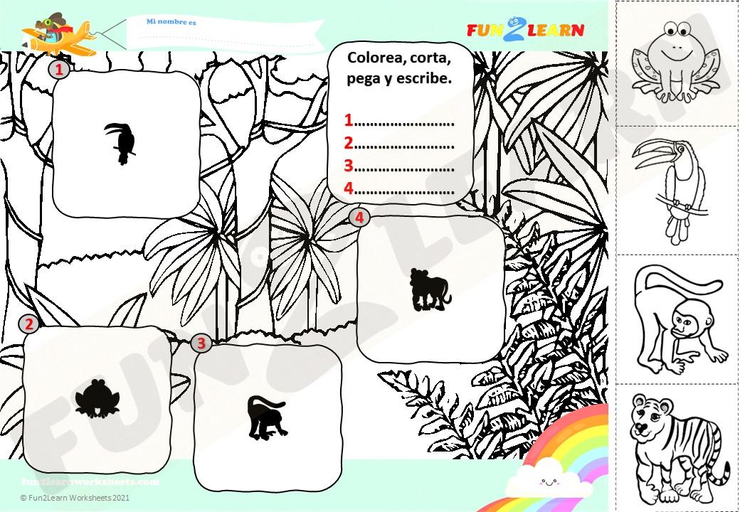 selva super simple worksheet