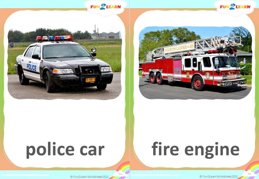 steve and maggie vehicles flashcards