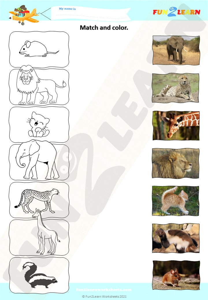 quiet as mouse animals worksheet