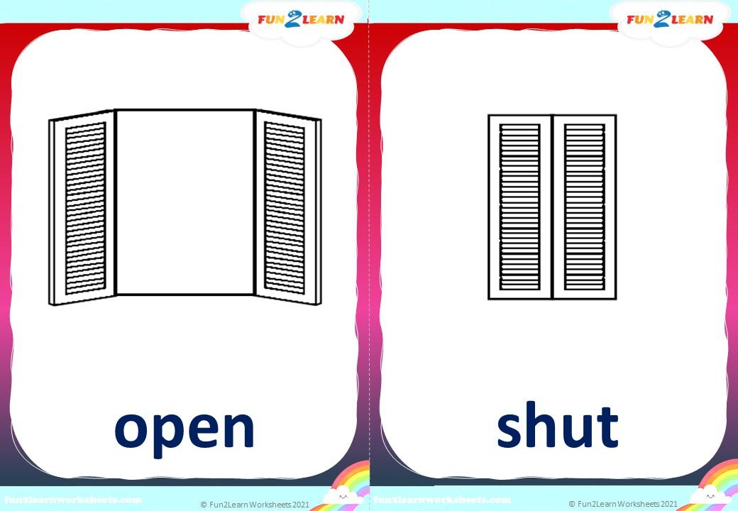 open shut them 2 flashcards