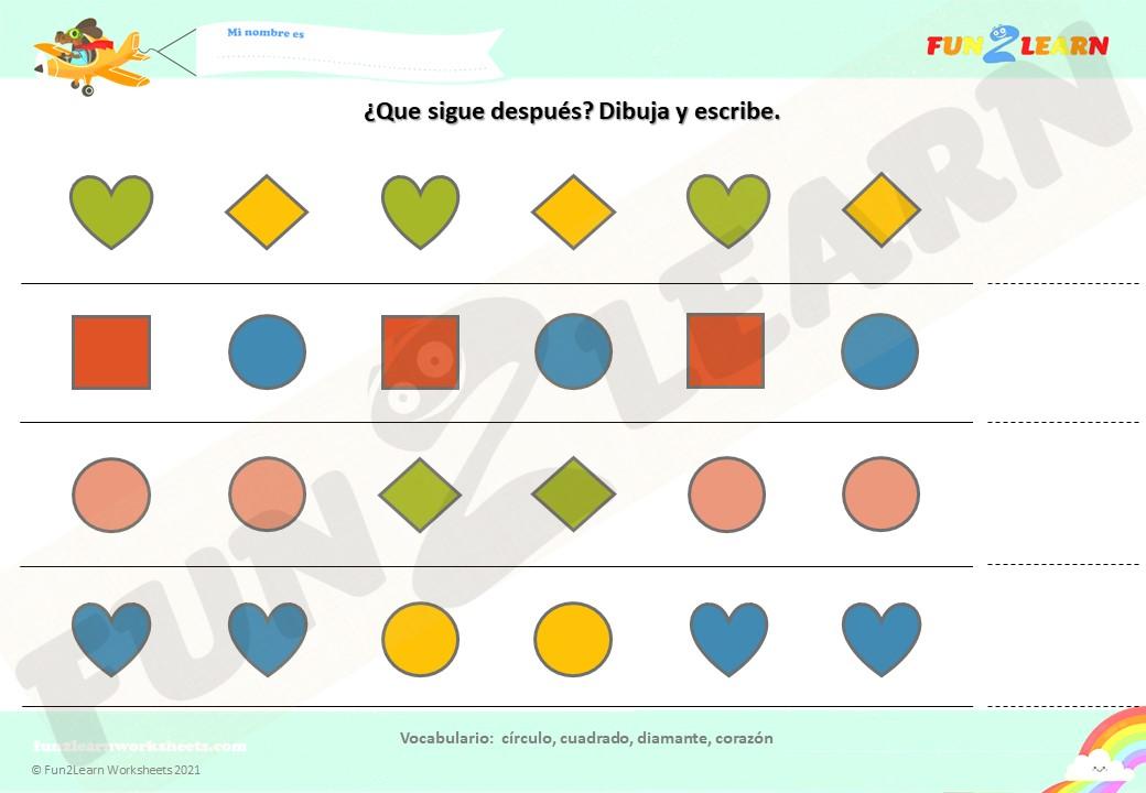 super simple formas worksheet