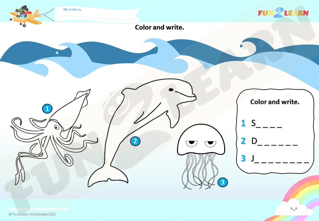Under Sea 3 ESL Worksheet