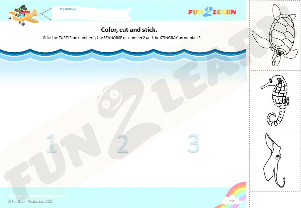under sea 2 worksheet