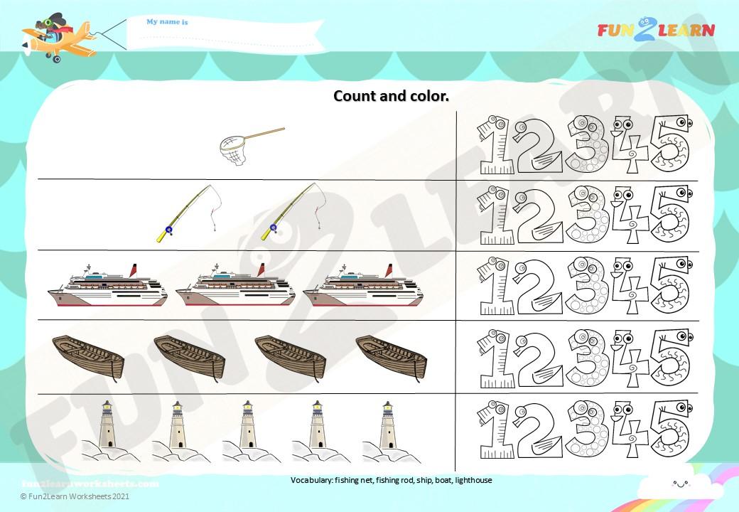 pocoyo fishing worksheet