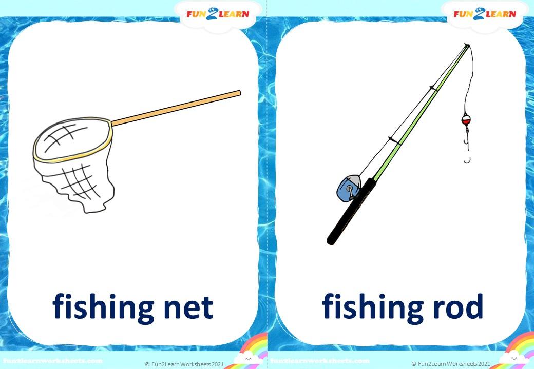 pocoyo fishing flashcards