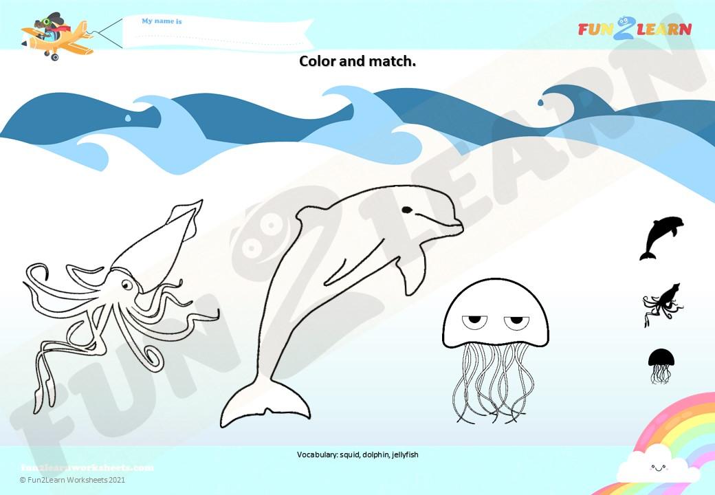 under sea 3 worksheet