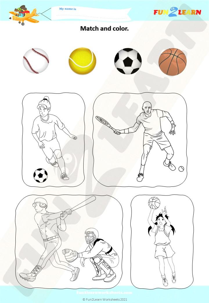 sports song esl worksheet
