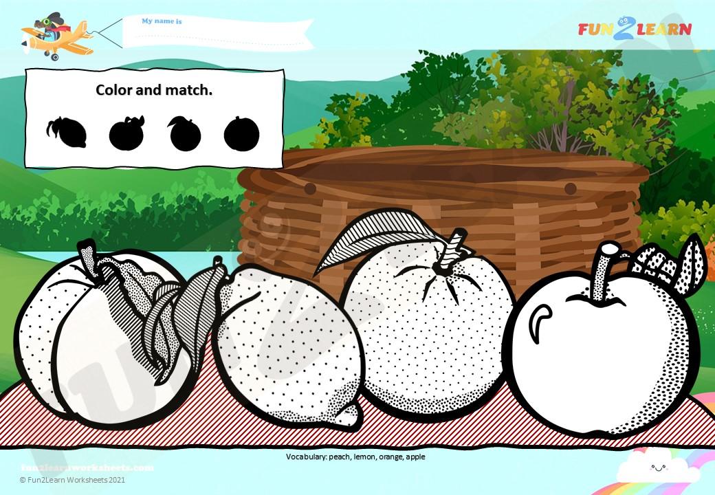 10 apples head worksheet