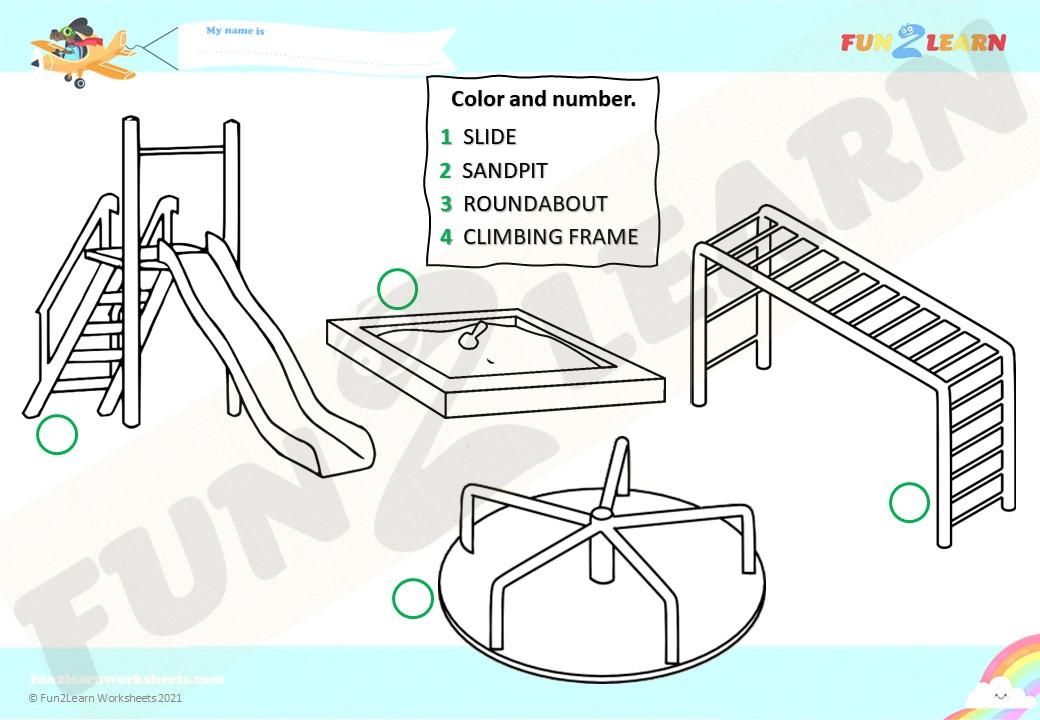 steve maggie playground worksheet