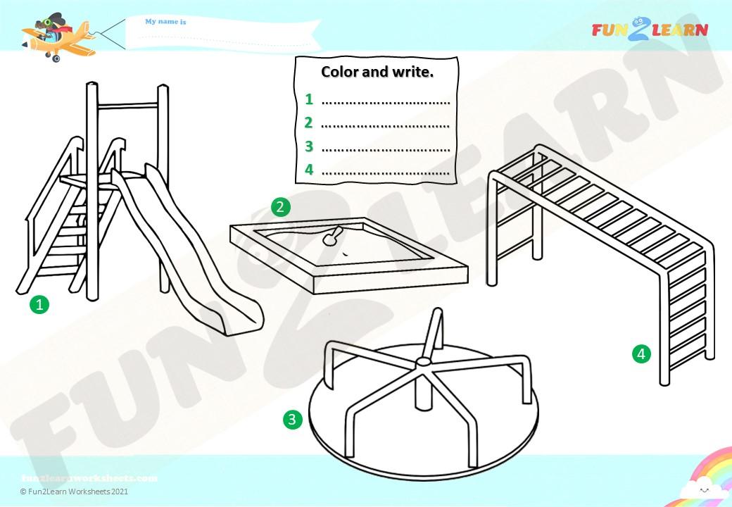playground seve maggie esl worksheet