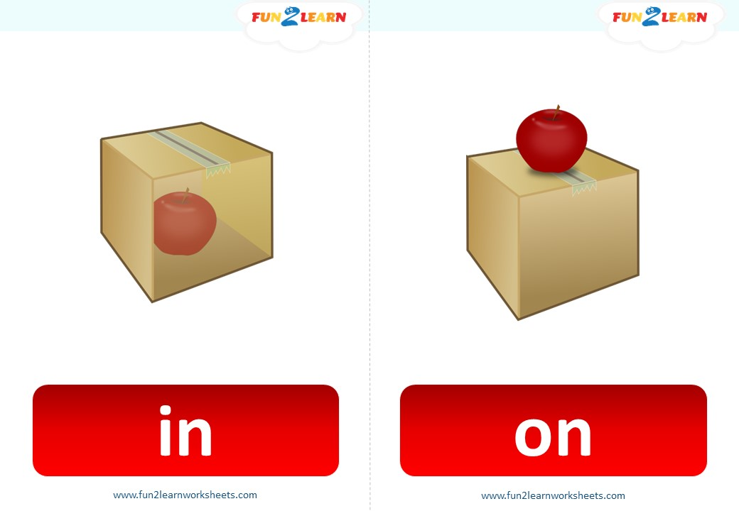 prepositions flashcards in on under