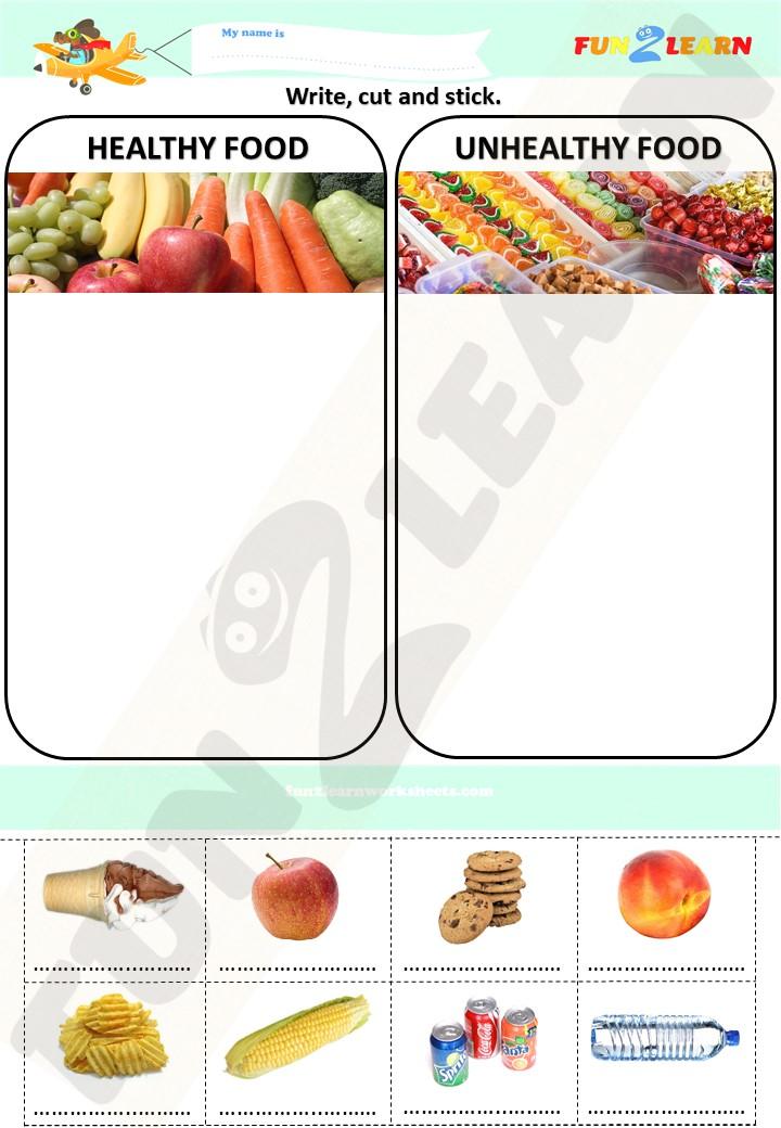 steve ice cream healthy food worksheet