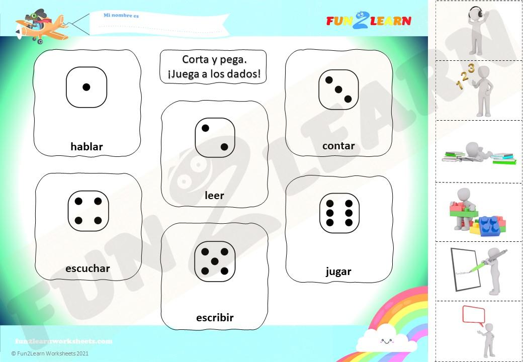 spanish verbs worksheet